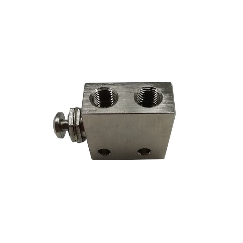 Pilot Controlled Pneumatic Manual Valve 3/2 Way Nickel Brass 1/8 Inch Actuator