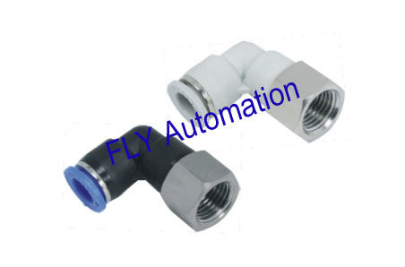 Quick Clamp PLF Pisco Female Elbow Zinc Brass Metric Pneumatic Tube Fittings