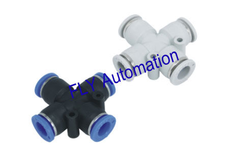 PZA,PZB,PZC One Touch Pisco Cross Plastic Pneumatic Tube Fittings